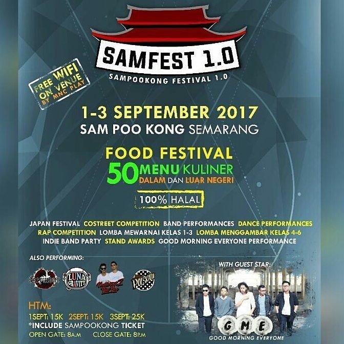 SAMFEST (SAM POO KONG FESTIVAL) BATCH 1
