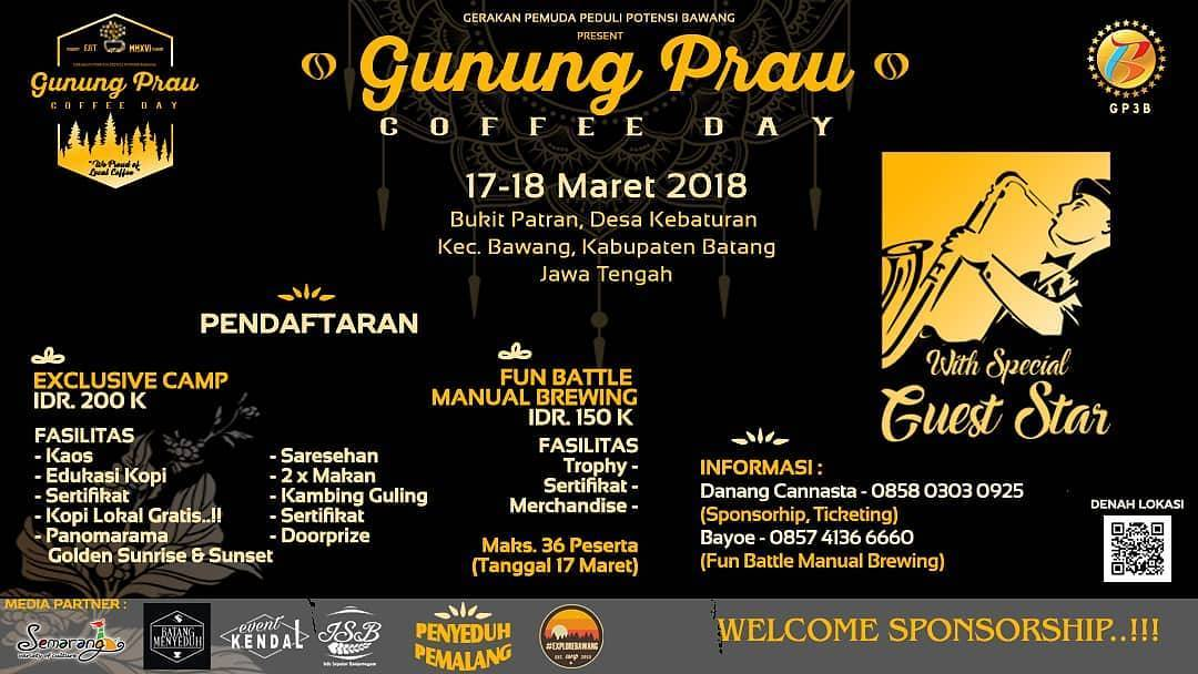 EVENT BATANG - GUNUNG PRAU COFFEE DAY 2018