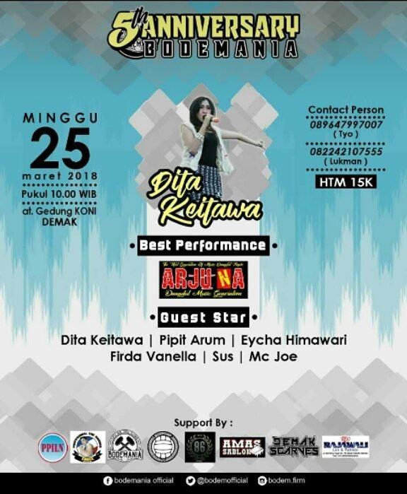 Event Demak - Anniversary 5th Bodemania