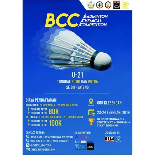Event Jateng-diy - Badminton Chemical Competition