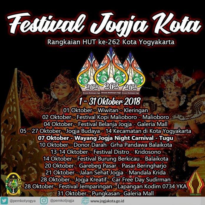 EVENT JOGJA - FESTIVAL JOGJA KOTA 2018