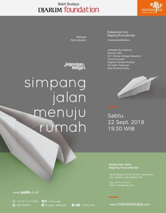 Event Jogja - Jagongan Wagen: Simpang Jalan Menuju Rumah (22 September 2018)