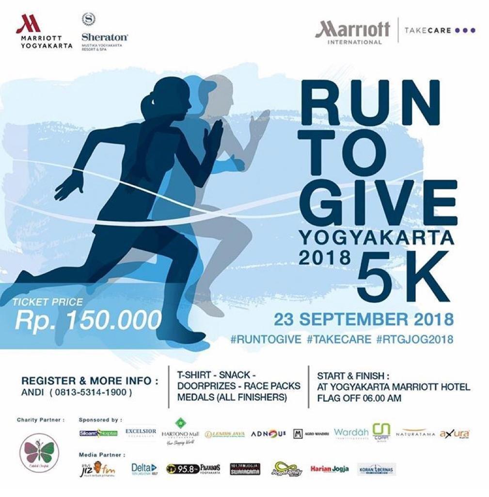 Event Jogja - Run To Give Yogyakarta 2018 – 5k