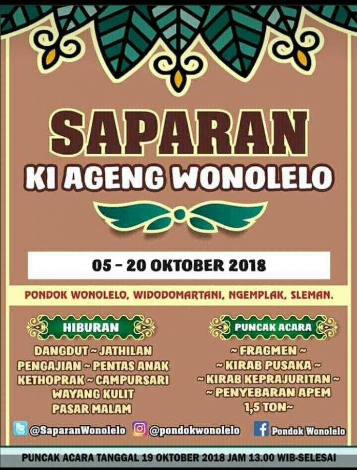 EVENT JOGJA - SAPARAN KI AGENG WONOLELO 2018