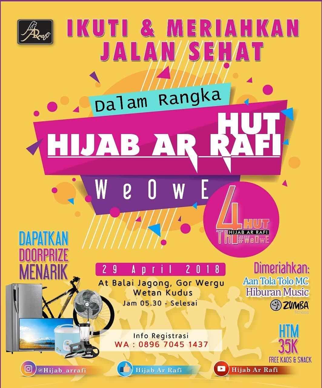 Event Kudus - Jalan Sehat  Hut Hijab Ar Rafi
