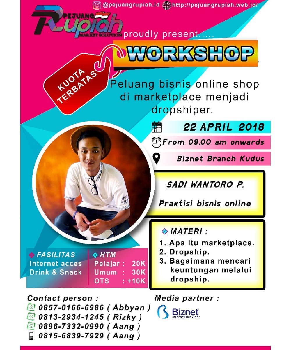 EVENT KUDUS - WORKSHOP PEJUANG RUPIAH