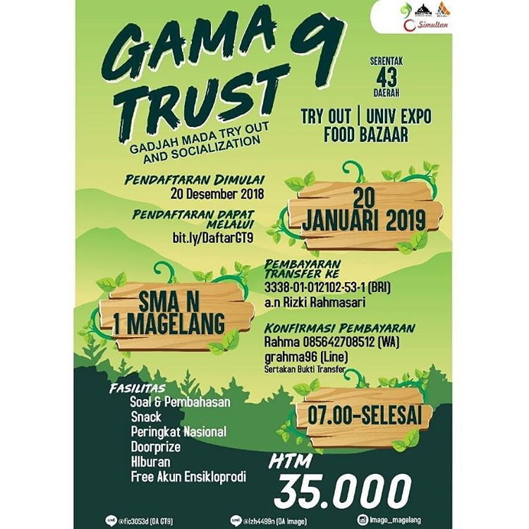Event Magelang - Gamatrust 9 ( Gadjah Mada Try Out And Socialization )