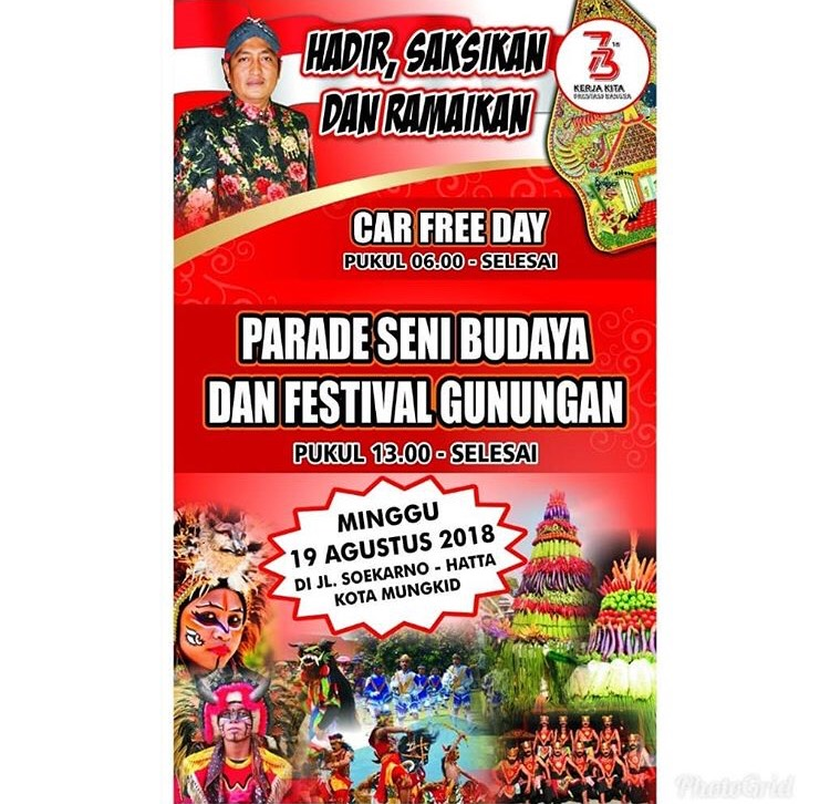 Event Magelang - Parade Seni Budaya Dan Festival Gunungan