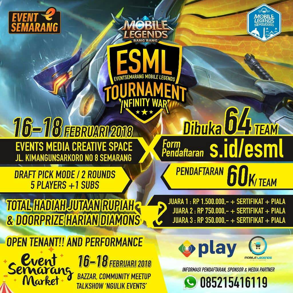 EVENT MOBILE LEGENDS TOURNAMENT DI SEMARANG