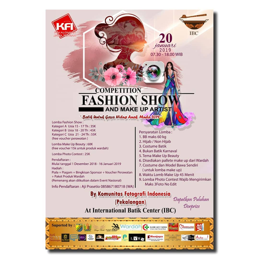 Event Pekalongan - Competition Fashion Show And Make Up Artist