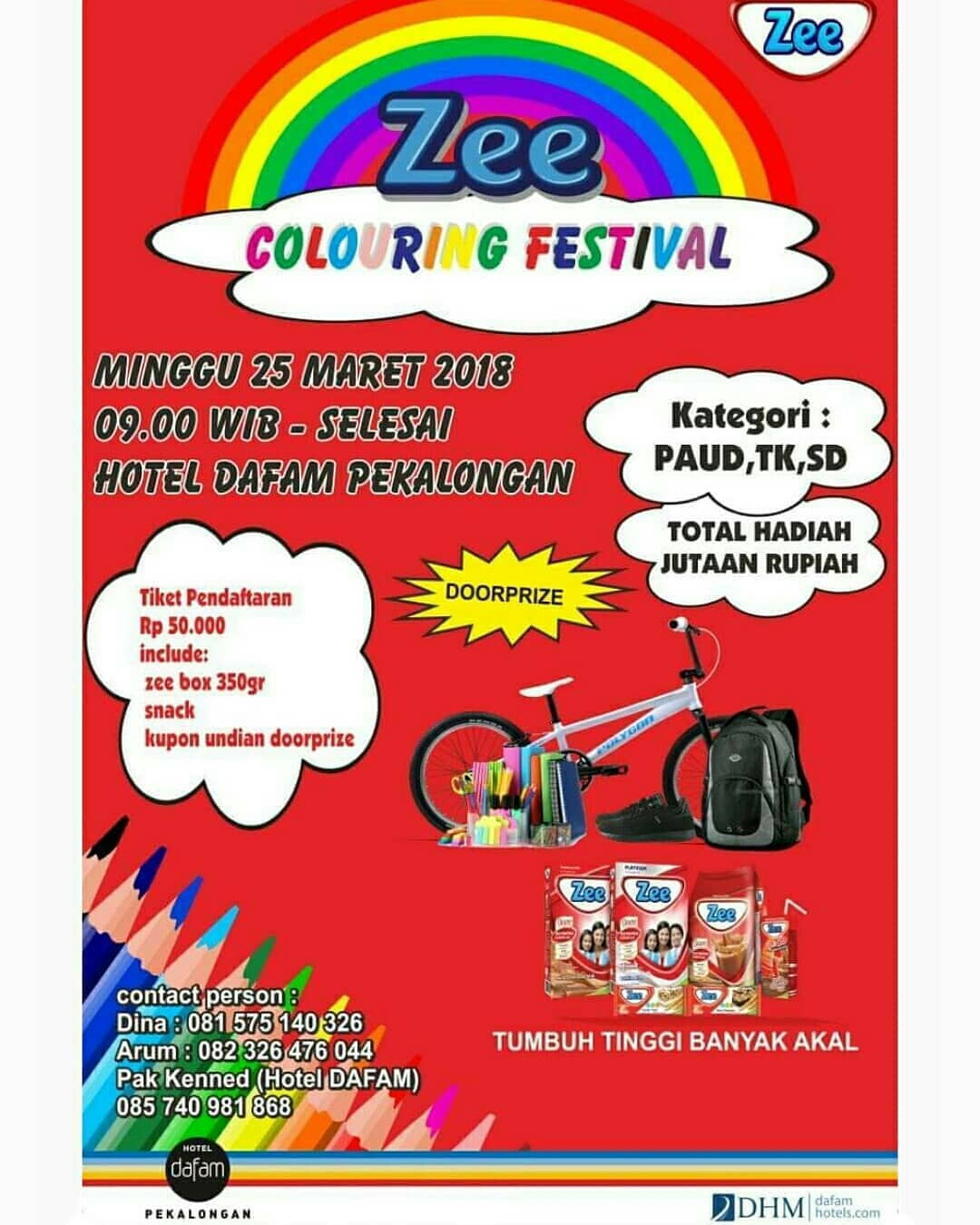 Event Pekalongan - Zee Colouring Festival