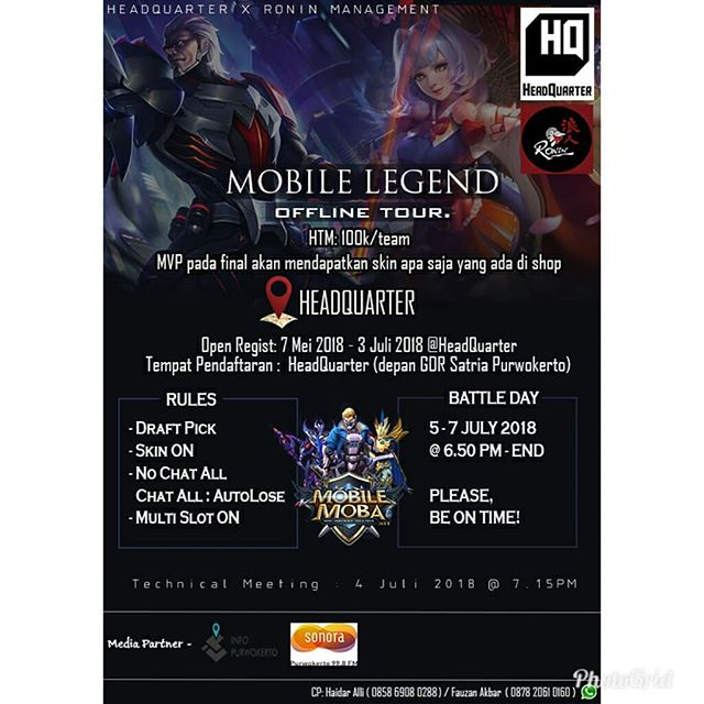 EVENT PURWOKERTO- MOBILE LEGEND OFFLINE TOUR