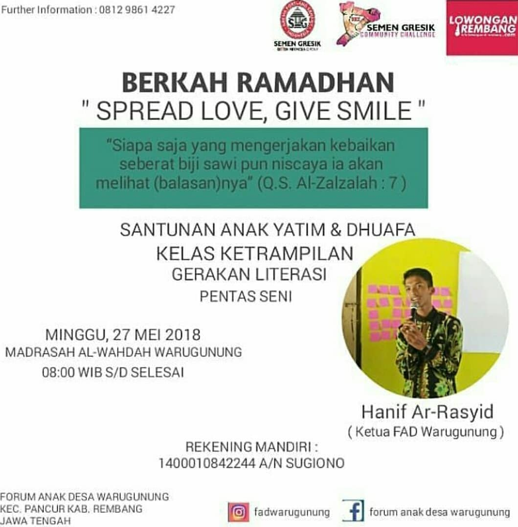 Event Rembang - Berkah Ramadhan Spread Love, Give Smile