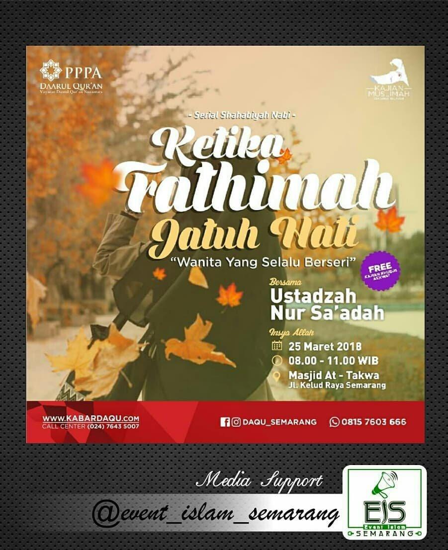 Event Semarang -  Kajian Muslimah Daarul Qur An