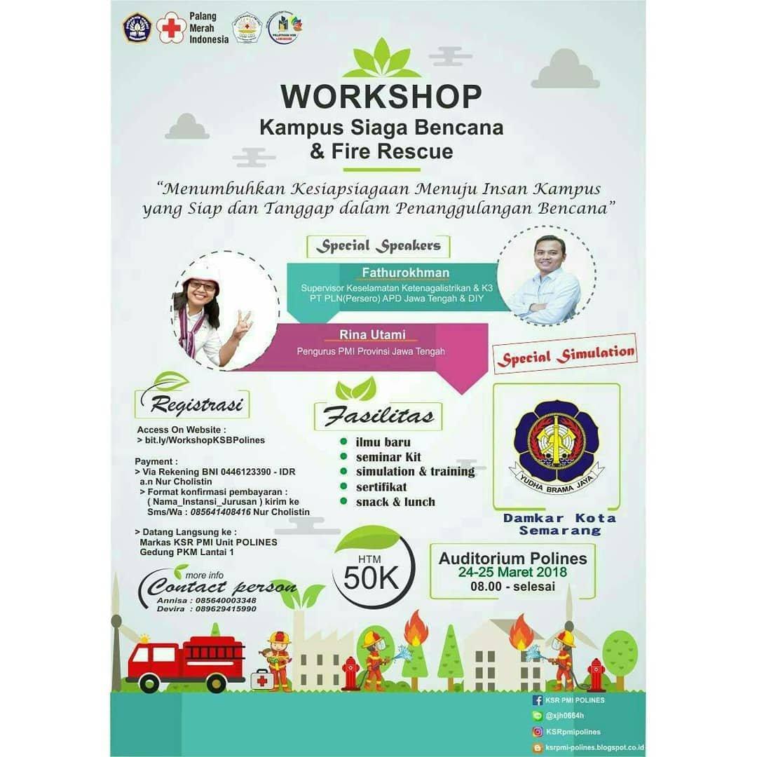 Event Semarang -  Workshop Kampus Siaga Bencana Dan Fire Rescue
