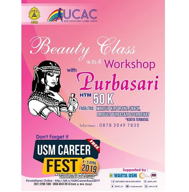 EVENT SEMARANG - BEAUTY CLASS AND WORKSHOP WITH PURBASARI
