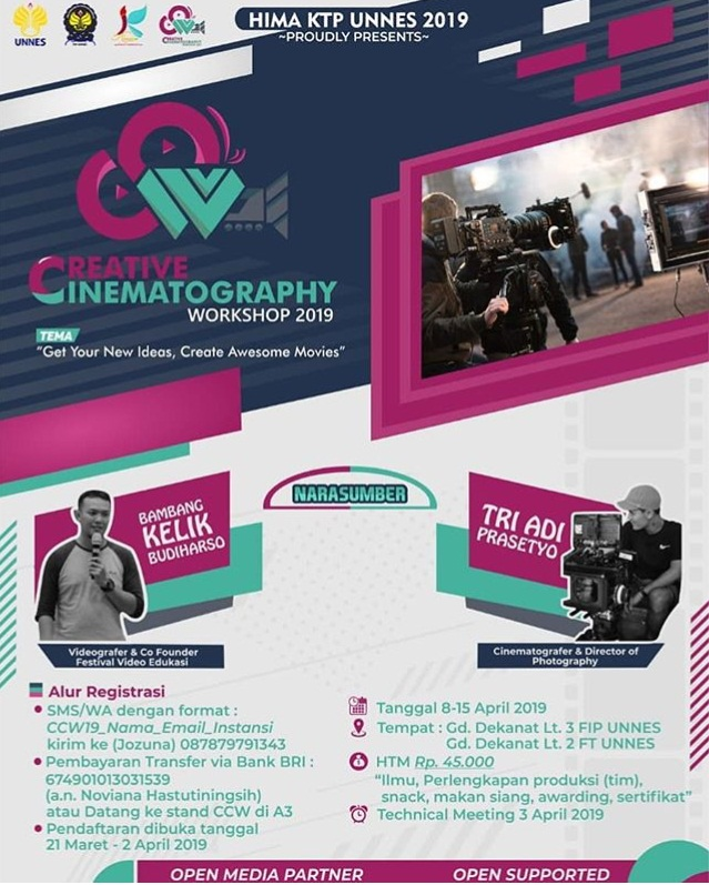 EVENT SEMARANG - CREATIVE CINEMATOGRAPHY WORKSHOP 2019