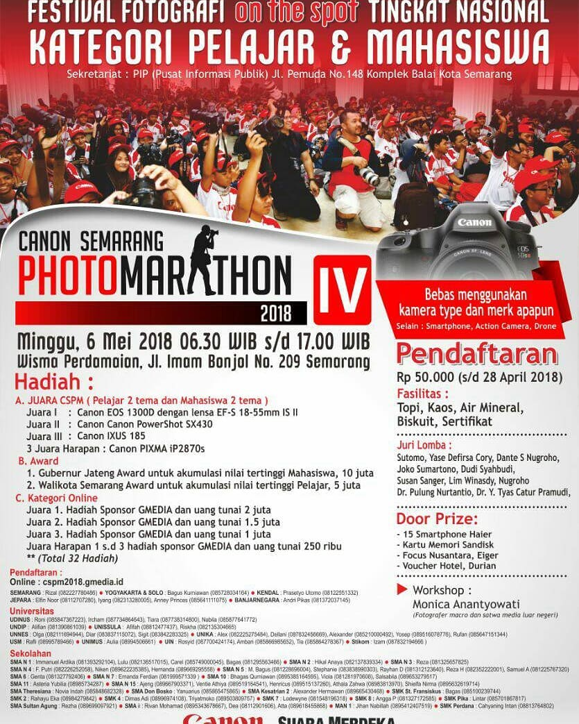 EVENT SEMARANG - CANON SEMARANG PHOTO MARATHON 2018