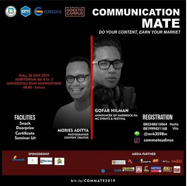 Event Semarang : Communication Mate Do Your Content, Earn Your Market