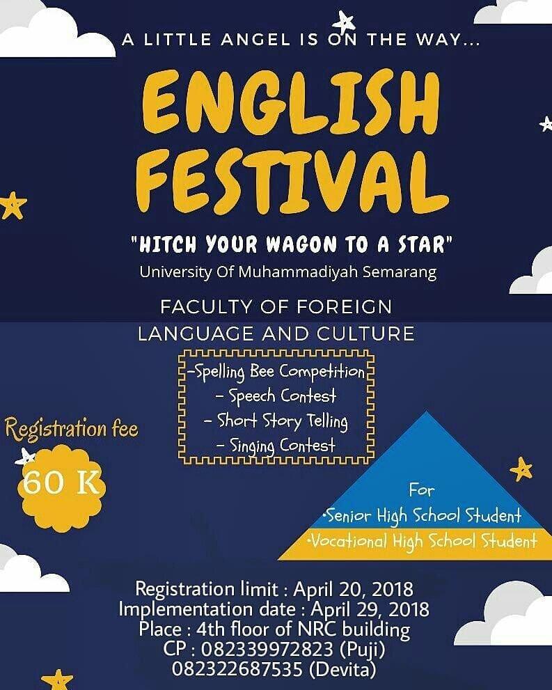 EVENT SEMARANG - ENGLISH FESTIVAL 2018