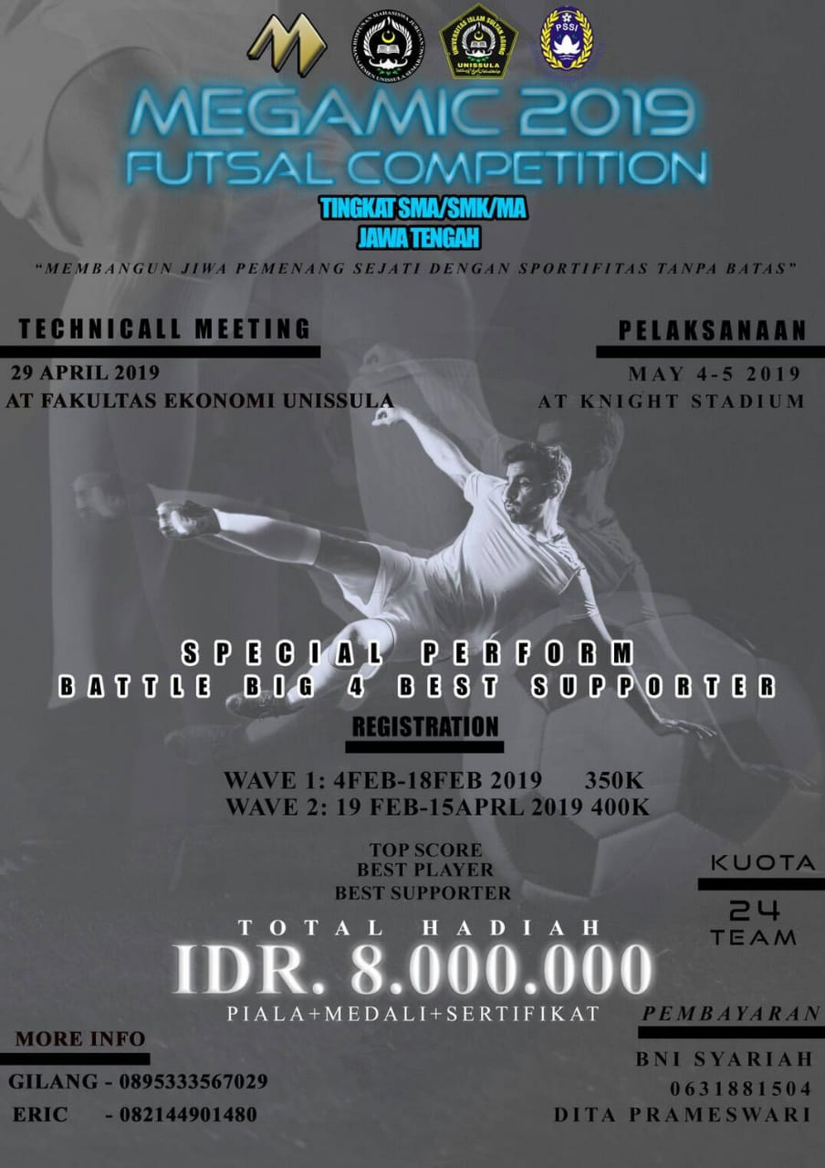 EVENT SEMARANG - FUTSAL COMPETITION MEGAMIC 2019