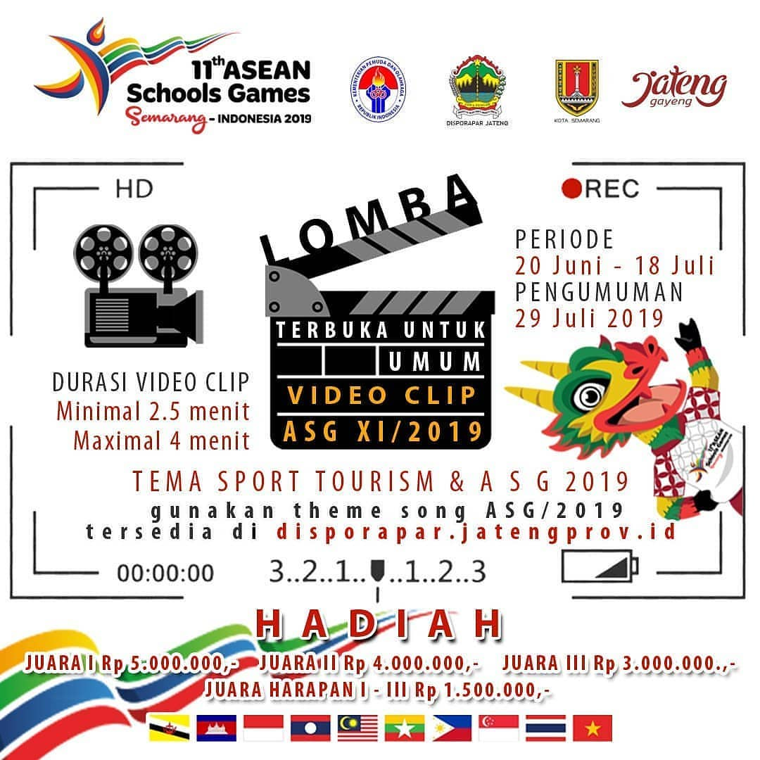 Event Semarang : Lomba Video Clip Asean Schools Games 2019