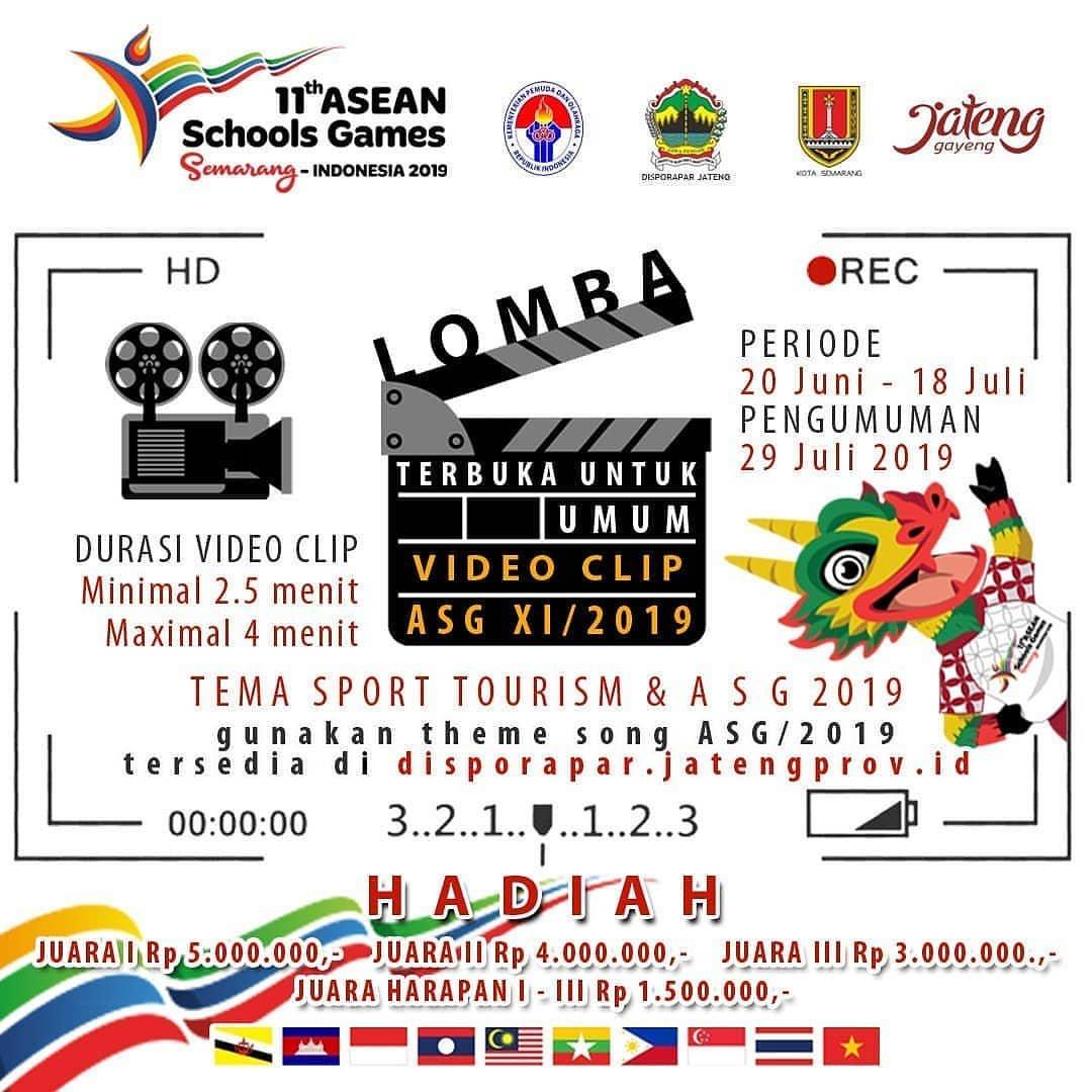 Event Semarang : Lomba Video Clip Asean Schools Games 2019