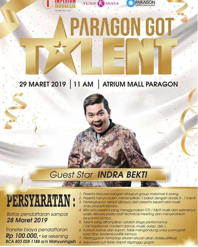Event Semarang - Paragon Got Talent