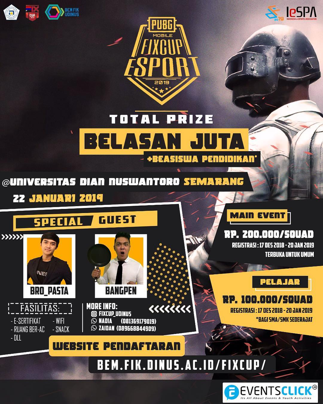 Event Semarang - Pubg Mobile Fixcup Esport Competition 2019