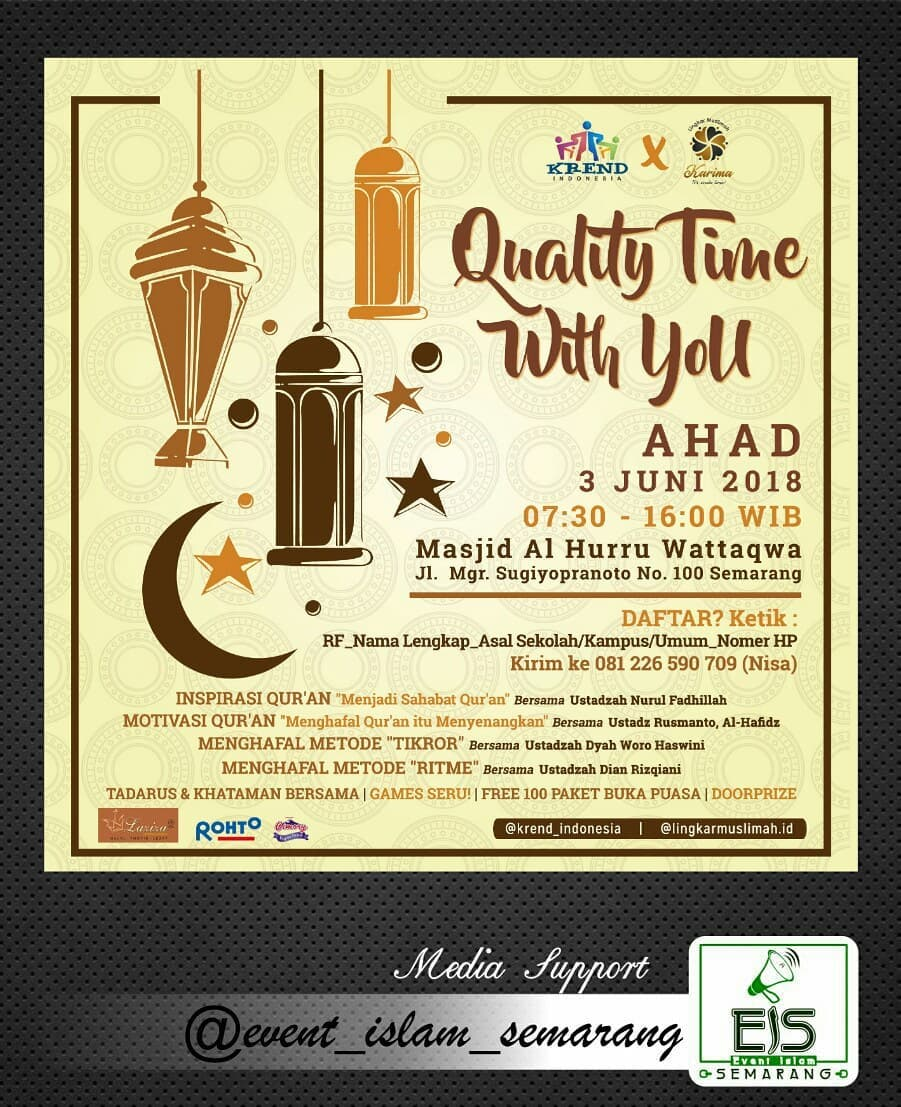EVENT SEMARANG - QUALITY TIME WITH YOU