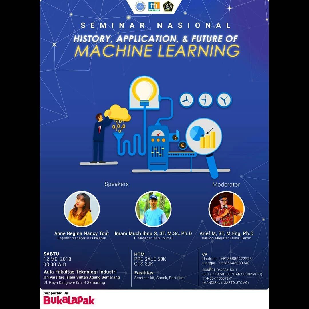 EVENT SEMARANG - SEMINAR NASIONAL MACHINE LEARNING