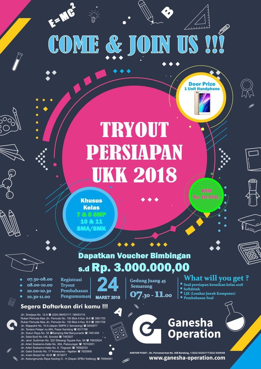 EVENT SEMARANG - TRY OUT PERSIAPAN UKK 2018