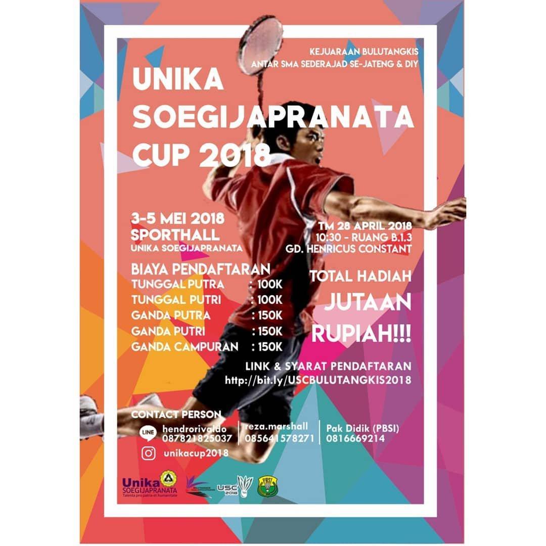 EVENT SEMARANG - UNIKA SOEGIJAPRANATA CUP 2018