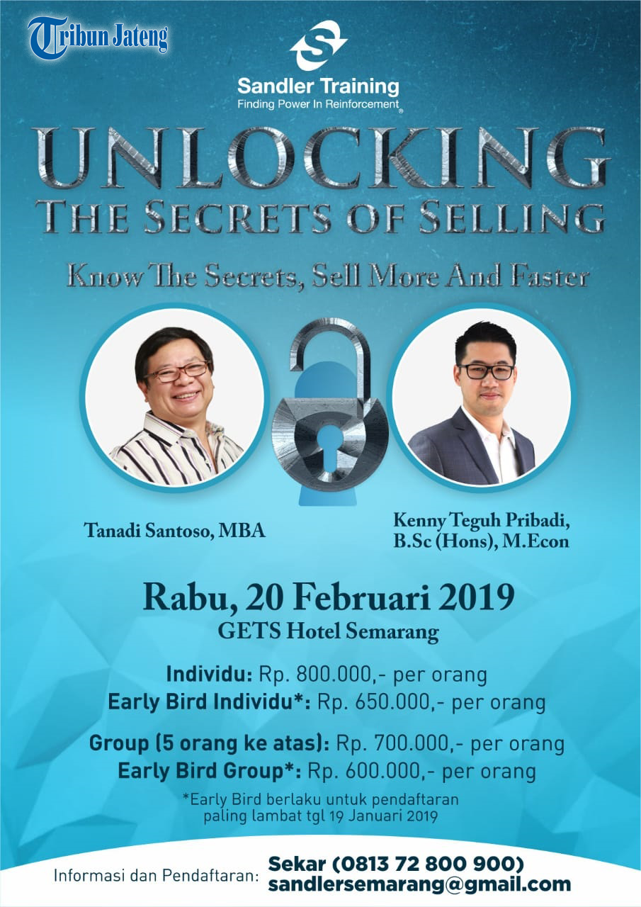 Event Semarang : Unlocking The Secrets Of Selling