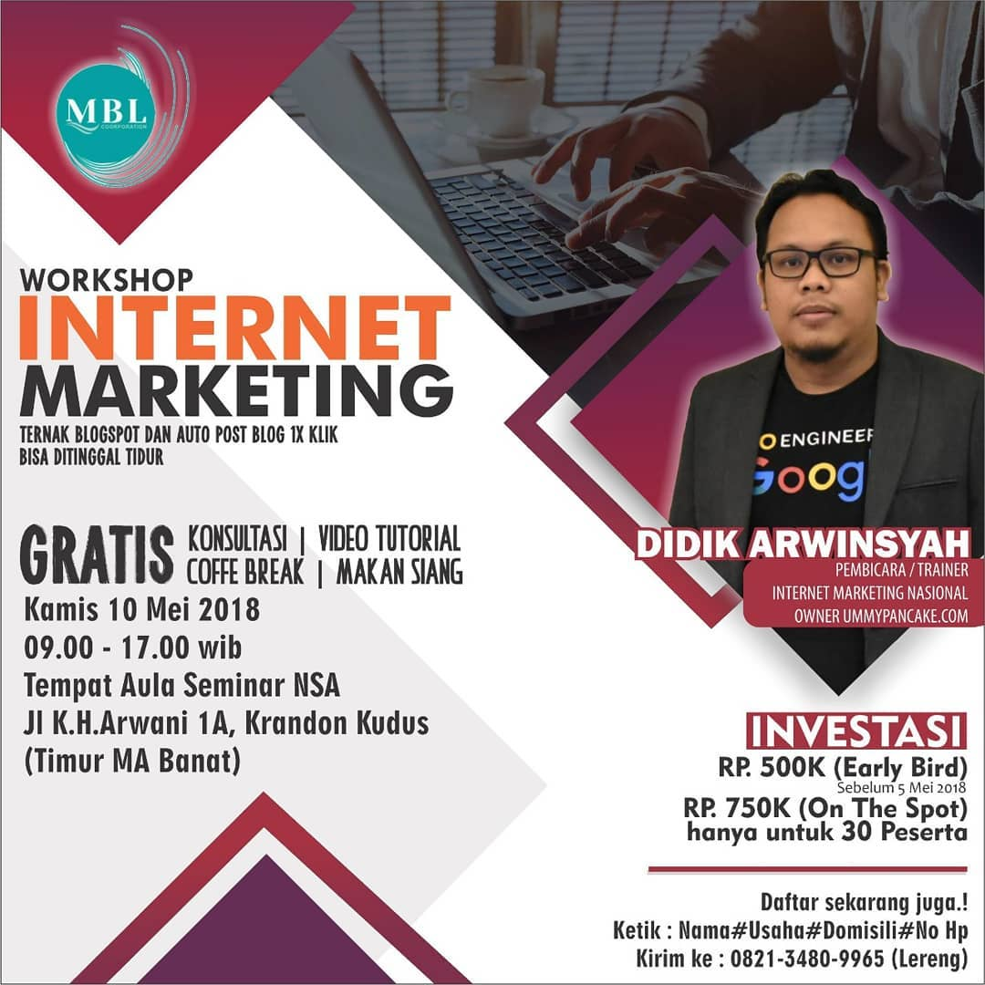 EVENT KUDUS - WORKSHOP INTERNET MARKETING