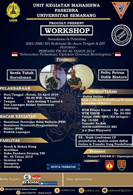 Event Semarang - Workshop Sosialisasi&pelatihan