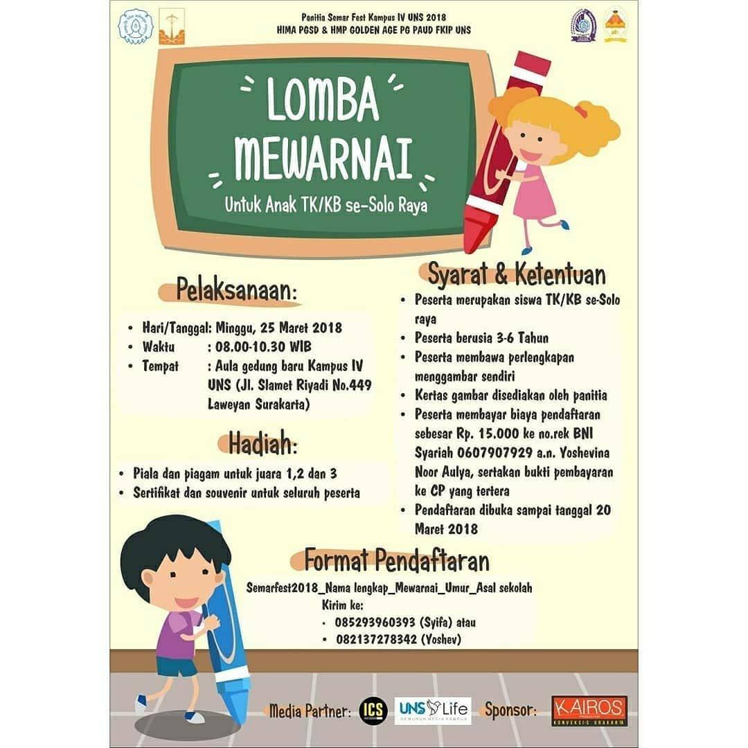 Event Solo - Lomba Mewarnai Dan Lomba Poster