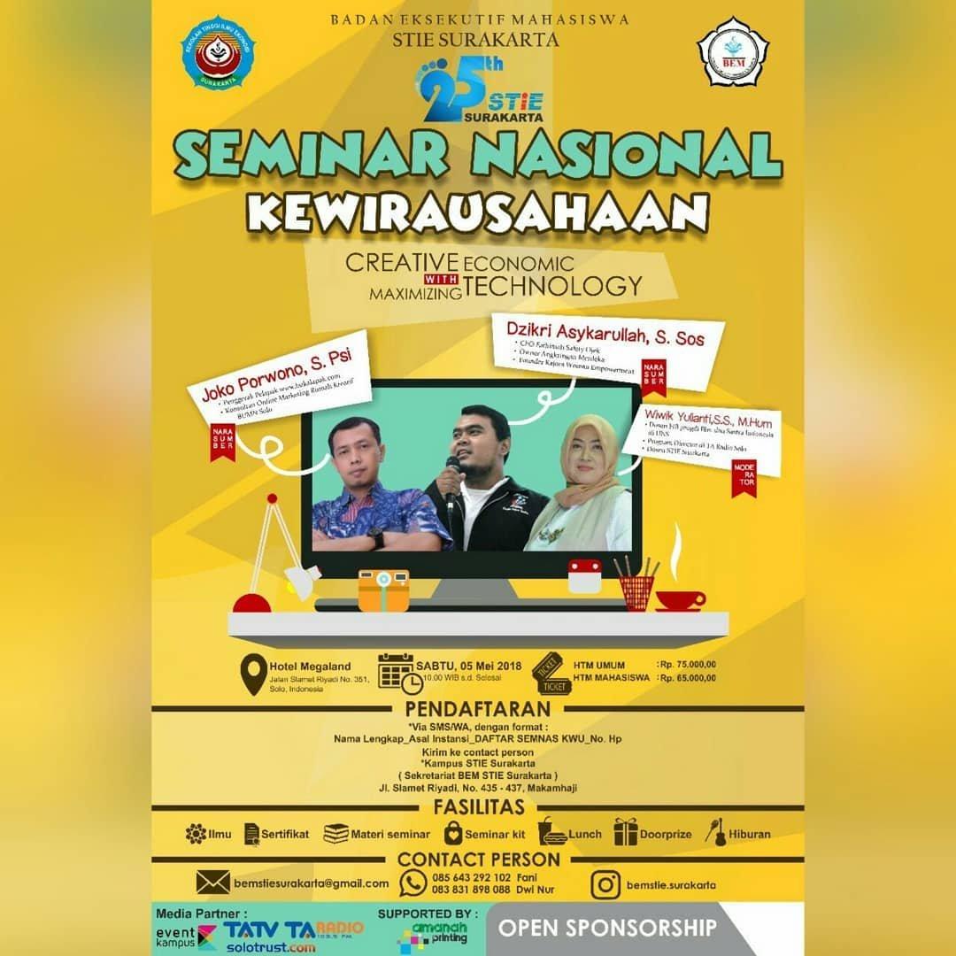 Event Solo - Seminar Nasional Kewirausahaan