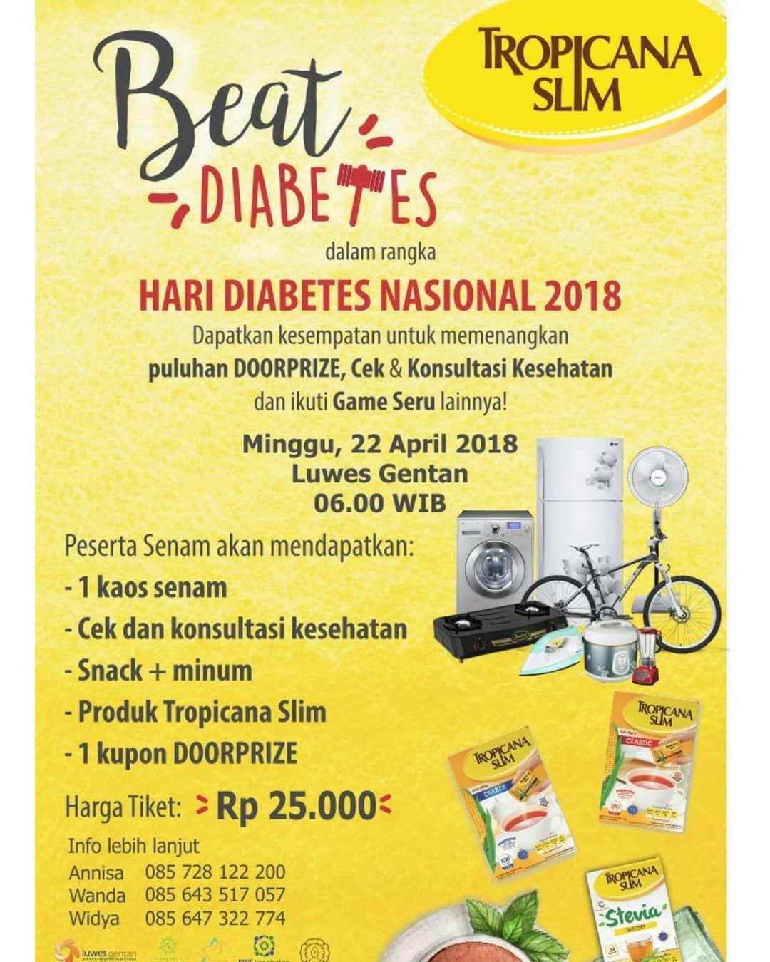 Jateng Live Event Solo Senam Beat Diabetes Tropicana Slim Stevia