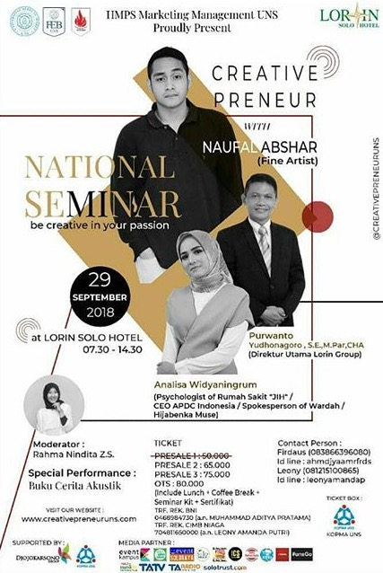 Event Solo - Seminar Nasional Be Ccreative In Your Passion
