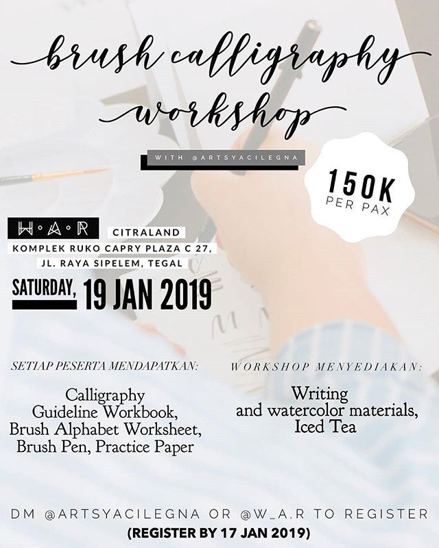 Event Tegal - Brush Calligraphy Workshop