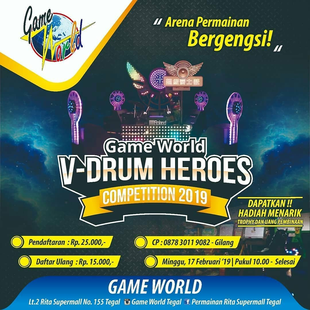 EVENT TEGAL - GAME WORLD,  V-DRUM HEROES 2019