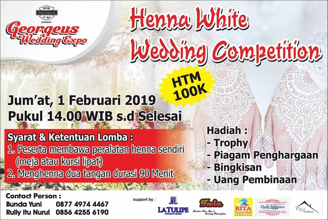 Event Tegal - Henna White Wedding Competition