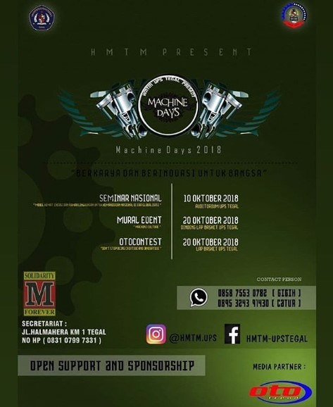 EVENT TEGAL - MACHINE DAYS 2018