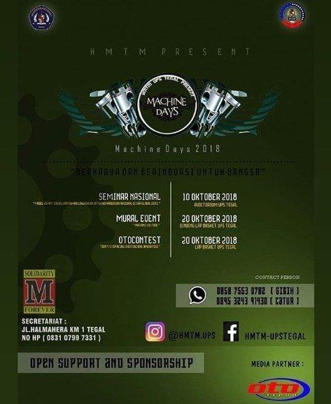 Event Tegal - Machine Days 2018