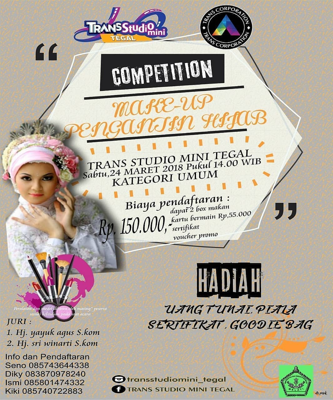 Event Tegal - Make Up Pengantin Hijab Competition