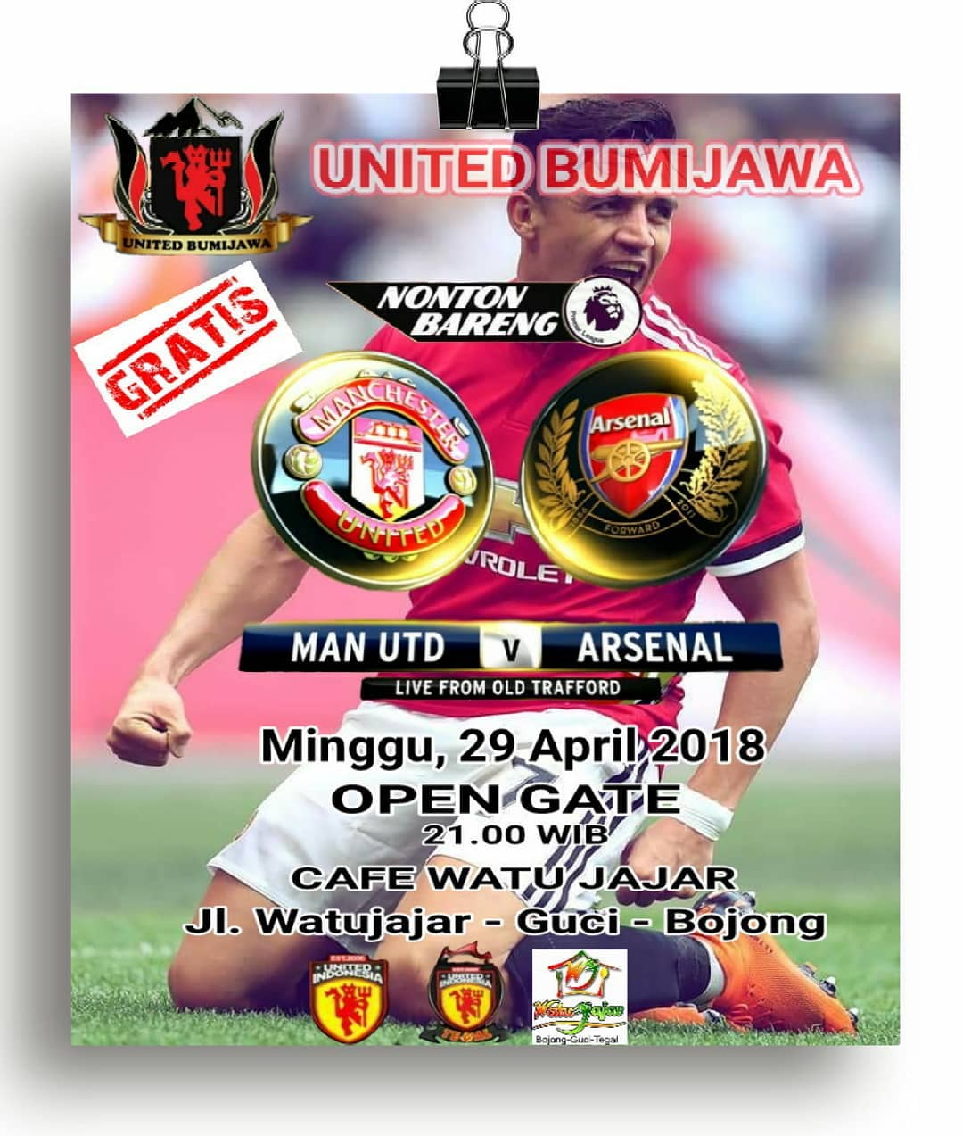 EVENT TEGAL - NOBAR MANCHESTER UNITED VS ARSENAL