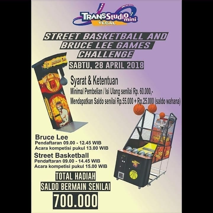 Event Tegal - Street Basketball And Bruce Lee Challenge