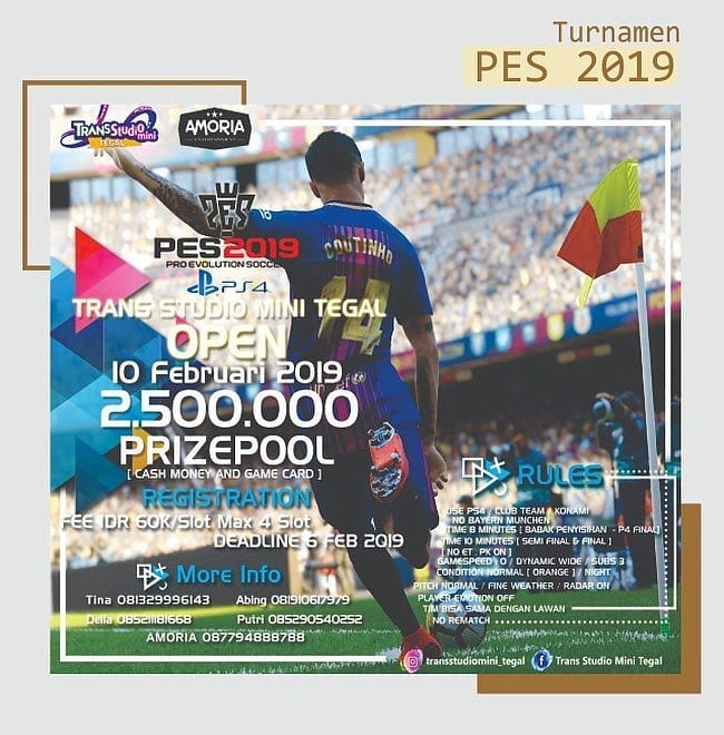 Event Tegal - Turnamen Pes 2019
