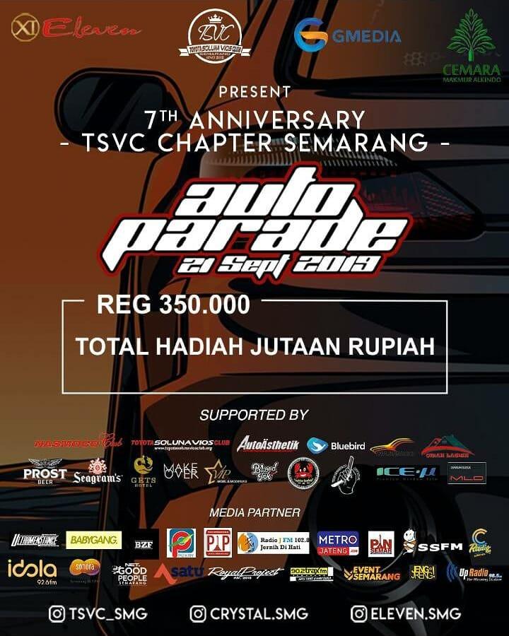 Eleven & Tsvc 7 Anniversary Present Auto Parade